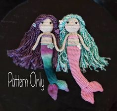 Hey, I found this really awesome Etsy listing at https://www.etsy.com/listing/268911272/crocheted-mermaid-doll-pattern