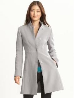 I love the cut of this coat and its slim shape. The color is also to die for!