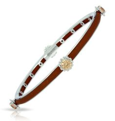 Constellations Collection; Comet Brown Sterling Silver Bangle