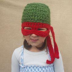 Teenage Mutant Ninja Turtle Hat, TMNT,  Children Costume Gift. $30.00, via Etsy. I WANT I WANT I WANT SOOOOOOOO BAD