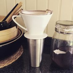 """#kivanta #kitchen #miir #stainless #insulatedcup #tumbler #coffee #coffeesock #coffeesockfactory #freshlybrewedcoffee  Love those Fridays when there is no school for the kids. Gives me some time to enjoy my coffee not """"on the go /run""""  But I use my coffee to go cup by MiiR anyway because it""""s just the best cup!"""