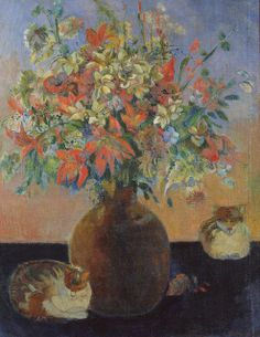 Paul Gauguin - Flowers and Cats, 1899