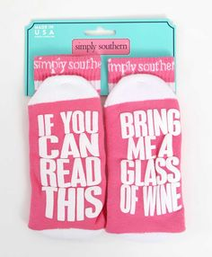 Simply Southern Preppy Collection If You Can Read This Wine Socks for Women