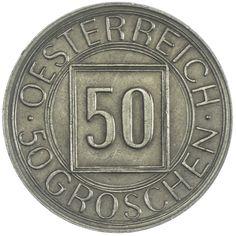 """50 Groschen 1934 sogenannter """"Nachtschilling"""""""