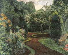 Hermann Friederich 'Herman' Bieling (1887-1964) A garden in bloom, oil on canvas 63.5 x 77.2 cm, signed lower right and dated '32. Collection Simonis & Buunk, The Netherlands.