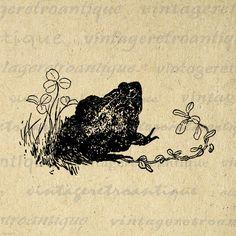 Antique Frog Digital Printable Download by VintageRetroAntique