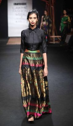 Mekhela Chador by Sanjukta Dutta - Lakme Fashion Week - SR 17 - 8