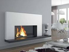 Fireplace Design, Fireplace Ideas, Ethanol Fireplace, Living Area, Living Rooms, Foyer, Home Improvement, Lounge, Modern Fireplaces