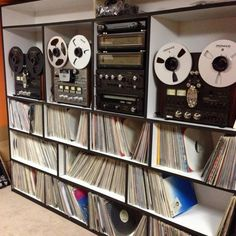 Technics Reel to Reel Tape  recorders and some Vinyl Records