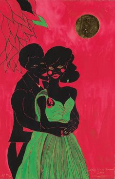Chris Ofili - Afro Lunar Lovers | 1stdibs.com