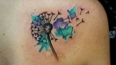 Watercolor Dandelion Tattoo by Aces High