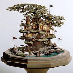 Cool Miniature Tree house