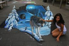 3D Chalk Art That Will Mess With Your Mind - Superhero Skyscraper