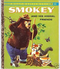 Smokey and His Animal Friends Little Golden Book