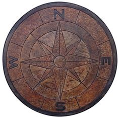 Concrete Stamps - Compass Rose Medallion-4 Ft Diameter - Calico Construction Products