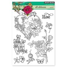 Penny Black Clear Stamps ALL ABLOOM 30-325