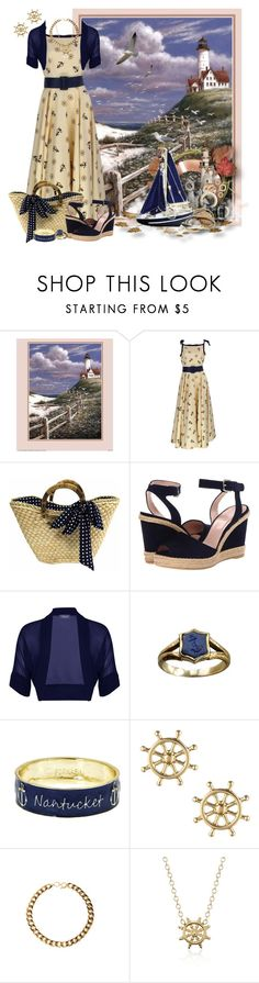 """""""Early Morning in Nantucket"""" by kathleensmith-i ❤ liked on Polyvore featuring Stuart Weitzman, Alexon, Fornash, Sperry, Blue Nile, Nautical and nauticalstyle"""