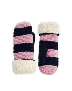 Jack Wills Faux Fur Lined Mittens