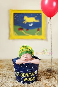 i usually don't like these weird baby poses and themes but i loved Goodnight Moon!