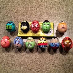 Superhero Easter Eggs