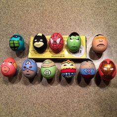 Superhero Easter Eggs