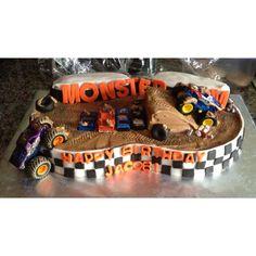 Monster Truck Cake - I like the truck climbing the side
