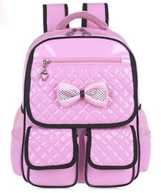 2016 new pu leather pink backpack girls school bags children backapcks for  teenage girls korean style blue student bag 330aecdf8a