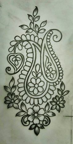 What Everybody Is Saying About Embroidery Designs by Hand Easy Simple Is Wrong and Why - Simple Hand Embroidery Designs, Hand Embroidery Stitches, Beaded Embroidery, Machine Embroidery, Kashida Embroidery, Embroidery Designs Free Download, Modern Embroidery, Sketch Design, Fabric Painting