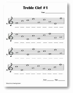 Treble Clef Notes Worksheet Lovely Intro To Treble Spaces Note Names Kids Worksheet Goo Music Theory Worksheets Music Teaching Resources Music Lessons For Kids