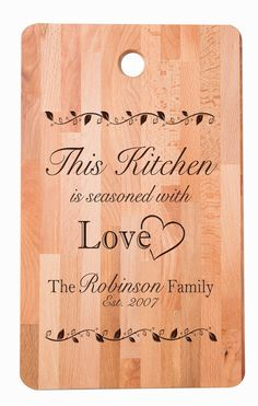 Personalized cutting board, Bamboo cutting board , Custom laser engraved cutting board, Chopping block,Gift for Mom, Gift for Grandmother