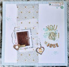 Wir lieben handgemacht... Made by frl.pilzrausch with stampinup heartvellum Gold layout scrapbooking