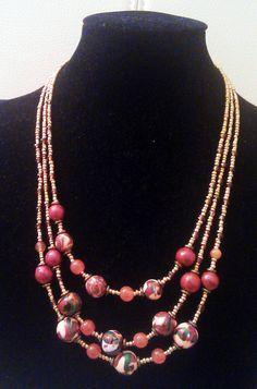 """Necklace """"Autumn colors"""" (matching the bracelet)."""