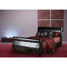 £264.99 - Sweet Dreams Diaz Brown Faux Leather Bed Frame