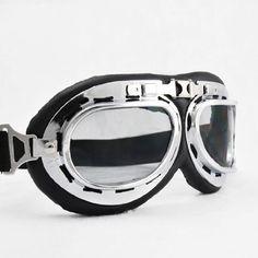 Steampunk Cyber Punk Goth Style Aviator Pilot Black Frame Clear Lens Elastic Strap Padded Frost Free Unisex Men Women UV Goggles Eyewear Sunglasses Costume Helmet Trim Decorative Cosplay Mask Tactical Gear by Astra Security, http://www.amazon.com/dp/B0055QJMC6/ref=cm_sw_r_pi_dp_0AlFrb04TM955
