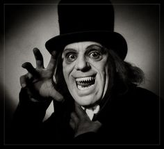 """London After Midnight"" starring Lon Cheney. I really wish I could see this movie in its entirety. Just...LOOK AT HIM!"