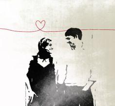 trouwkaart met foto in verharde poster-stijl