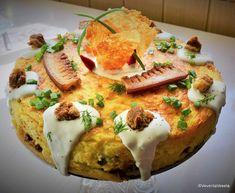 Mamaliga in straturi (paturi) reteta de tort de mamaliga | Savori Urbane Savoury Cake, Avocado Toast, Tapas, Eggs, Vegetarian, Dinner, Breakfast, Recipes, Health