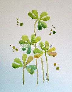 Spring time clover , original watercolour (not print) on 240g paper approx: 7.7x6inch/19.5x15cm. FREE SHIPPING $20.00 USD
