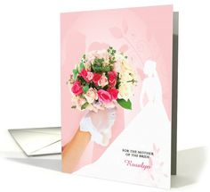 Congratulations Mother of the Bride Custom - Vintage Bride card by Salon of Art Greetings