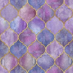 Vintage decorative moroccan seamless pattern with gold line. Print for textile, wallpaper, gift wrapping Morrocan Patterns, Tile Patterns, Background Watercolour, Gold Background, Moroccan Design, Moroccan Tiles, Moroccan Decor, Purple Master Bedroom, Mehndi Designs Book