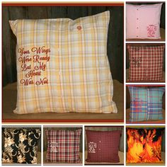Custom memory pillows. Made from your loved ones shirts.