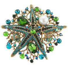 EVER FAITH Vintage Style Starfish Simulated Pearl Brooch Pendant Green Austrian Crystal N03055-6 EVER FAITH http://www.amazon.com/dp/B00IZZ72JY/ref=cm_sw_r_pi_dp_DmfRub14YJ48N