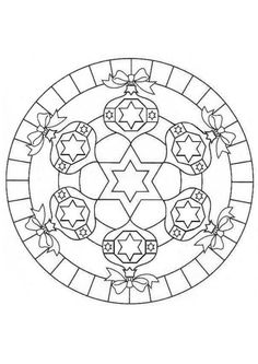 coloring page Mandala Christmas on Kids-n-Fun. Coloring pages of Mandala Christmas on Kids-n-Fun. More than coloring pages. At Kids-n-Fun you will always find the nicest coloring pages first! Mandalas Drawing, Mandala Coloring Pages, Coloring Book Pages, Zentangles, Christmas Colors, Kids Christmas, Christmas Crafts, Christmas Ornaments, Christmas Mandala