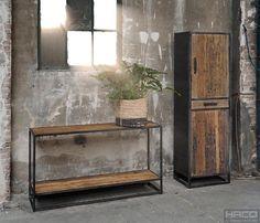 Haltafel Konan 150cm | Ruime keus & Snel leverbaar! Living Room Furniture, Modern Furniture, Entryway Tables, Art Deco, Iron, Shelves, Industrial, Home Decor, Wood