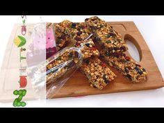 Μπάρες δημητριακών (Cereal bars) - YouTube Cereal Bars, Meat, Breakfast, Desserts, Food, Youtube, Sports, Muesli Bars, Beef