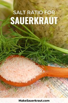Mushy, moldy sauerkraut? How much salt to use is key when fermenting sauerkraut. Use these measurements to ensure delicious tang and crunch. Making Sauerkraut, Homemade Sauerkraut, Sauerkraut Recipes, Fermented Cabbage, Fermented Foods, Health Resources, Health Articles, Zucchini Relish, Ukrainian Food