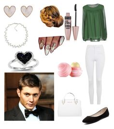 """""""Church With Dean"""" by datpanda66 ❤ liked on Polyvore featuring Topshop, Verali, Maybelline, Eos, Michael Kors, New Look, Carolee and Kevin Jewelers"""