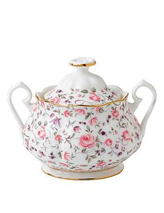 Royal Albert New Country Roses Rose Confetti Vintage Formal Covered Sugar