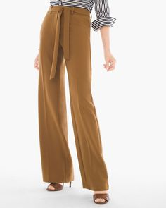 Chico's Women's Belted Trouser