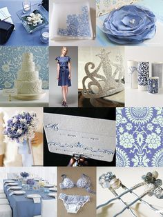 periwinkle  white wedding inspiration - it's soft and romantic, light and airy, and above all one of the most timeless color choices you could possibly select. Lucky in Love Wedding Planning Blog | Banquet and Event Wedding Planning Resource